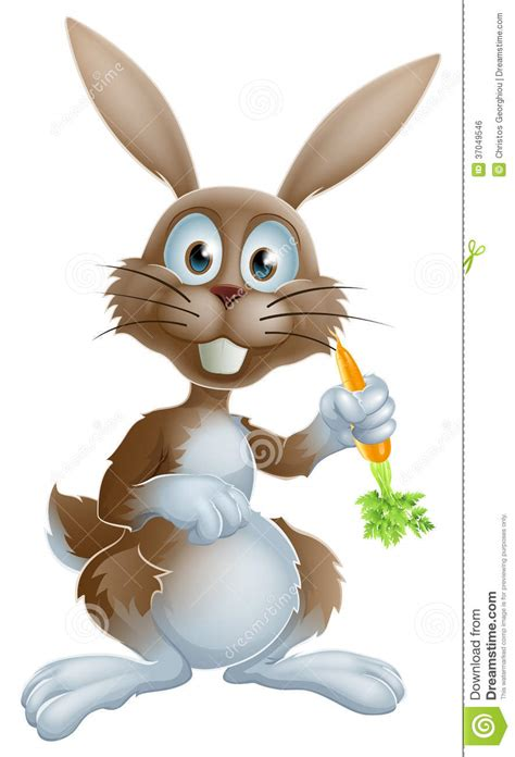 easter time avarde look hairstles rabbit with carrot royalty free stock image image 37049546