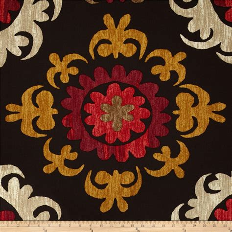 suzani upholstery fabric p kaufmann stencil it in suzani onyx discount designer