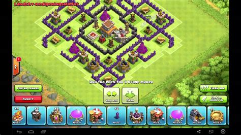 coc th8 layout with air sweeper coc th8 war base air sweeper 2015 youtube