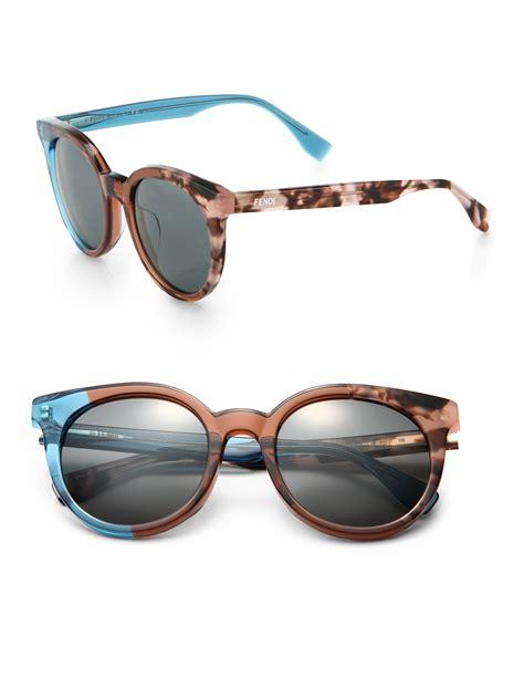 Color Block Sunglasses lyst fendi colorblock sunglasses in green