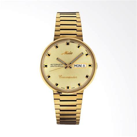 Jam Tangan Pria Merk Mido jual mido commander automatic stainless steel jam tangan pria gold m8429 3 22 23