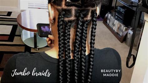 diy spider web jumbo box braids black hair jumbo braids detailed