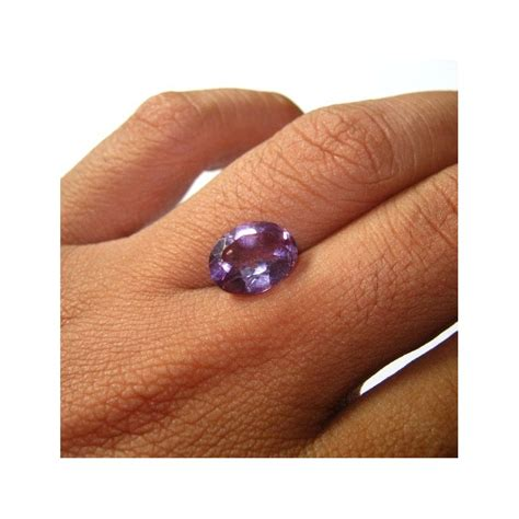 Cincin Kecubung Brazil batu mulia kecubung brazil 3 80 carat oval cut