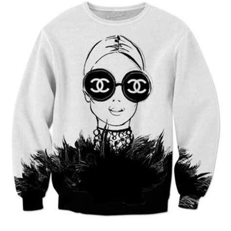 Coco Channel Rainbow Tshirt shop chanel sweatshirt on wanelo