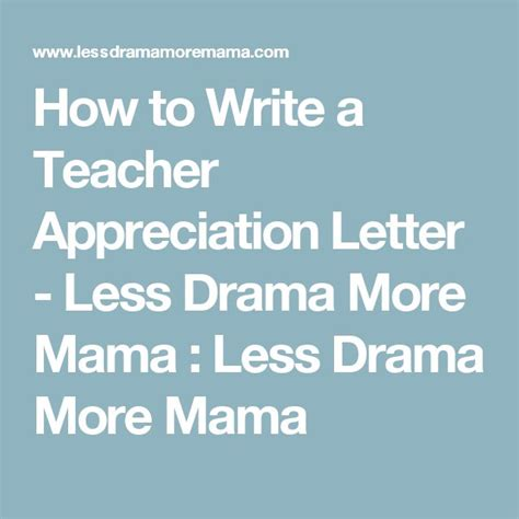 Letter Drama best 25 appreciation letter to ideas on