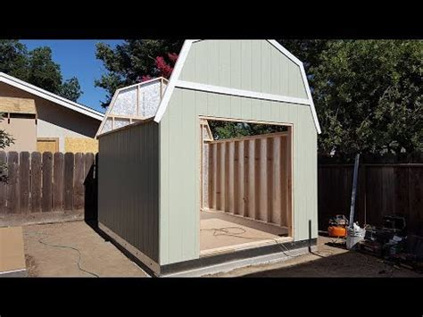 tuff shed installed start  finish time laps youtube