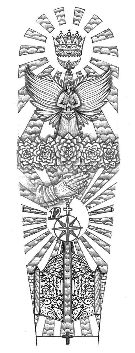 Religious Gates of Heaven tattoo design by ... Gates Of Heaven Design