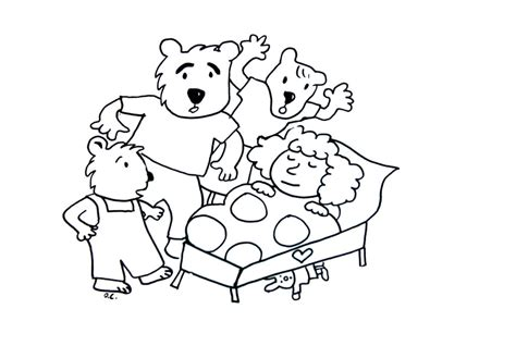 coloring pages coloring goldilocks and the tree bears jpg