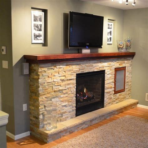 fireplace mantel with tv above fireplace ideas
