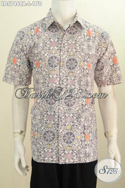 Hem Batik Kemeja Batik Bahan Katun Halus Db4108 1 kemeja batik halus proses cap warna alam berbahan katun