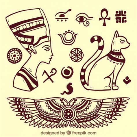 dibujos de jelogrificos elementos de dioses egipcios esbozados descargar