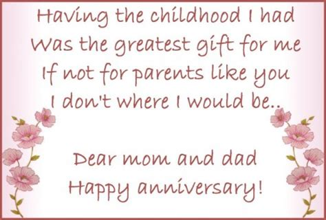 Wedding Anniversary Wishes Parents by Anniversary Wishes Quotes And Poems For Parents