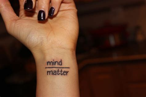 mind over matter tattoos the 25 best mind matter ideas on