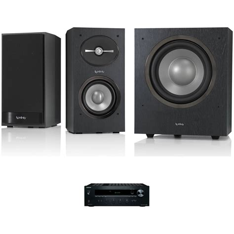 infinity reference r152 2 way bookshelf speakers and r10 b h