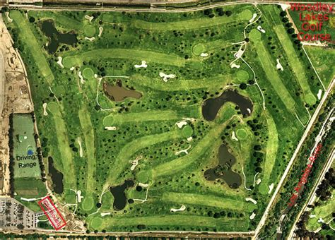 overhead view of golf swing woodley lakes municipal golf course detail page