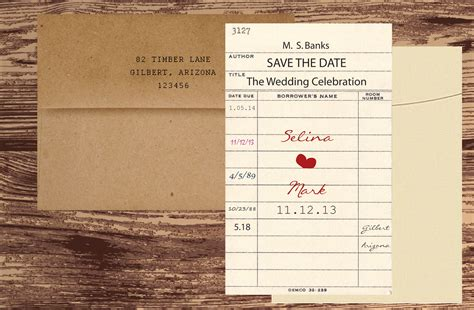 how to make library card library card save the date chic shab design
