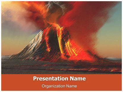 Volcano Free Powerpoint Template Subscriptiontemplates Com Volcano Powerpoint Template