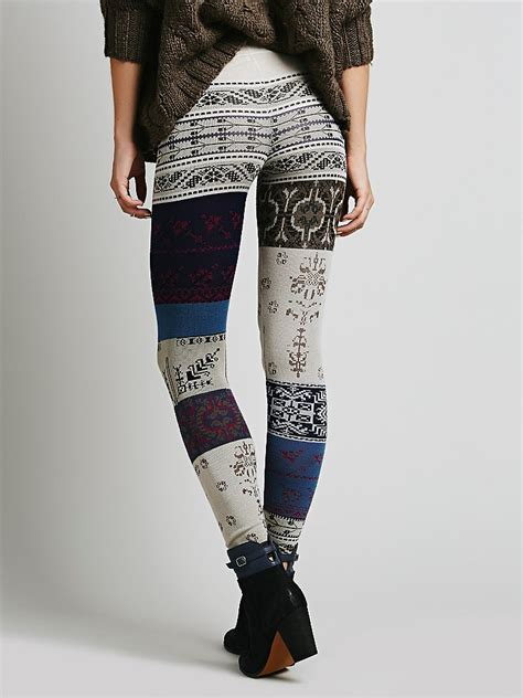 Be Inspired By Free Peoples Patchwork Laptop Bag by Free Womens Patchwork Sweater Legging Lyst