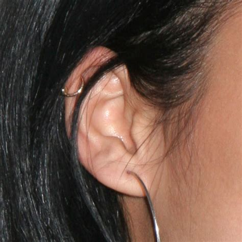 shay mitchell ear piercings cassie ventura ear lobe helix cartilage piercing steal