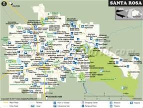map of santa rosa california santa rosa city map map of santa rosa california