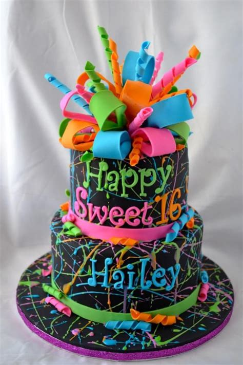ideas  colorful birthday cake  pinterest rainbow cakes colorful cakes