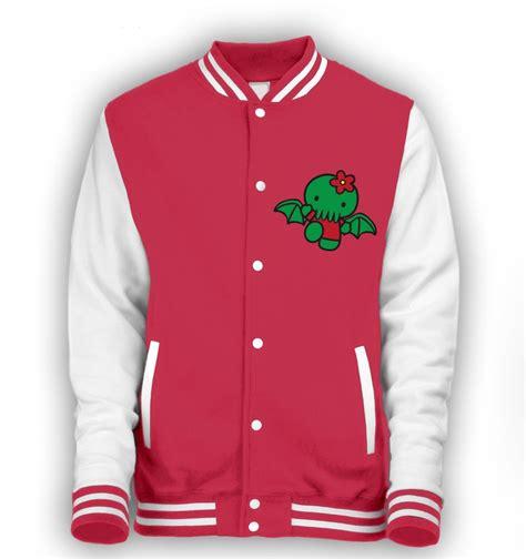 Hello Jacket hello cthulhu varsity jacket somethinggeeky