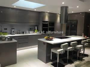2014 handless china made high gloss lacquer wooden kitchen