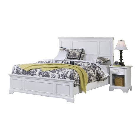 shop home styles naples white bedroom set at lowes