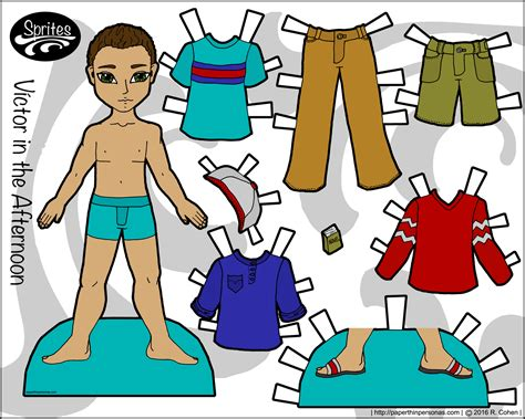How To Make Cut Out Paper Dolls - victor in the afternoon a boy paper doll