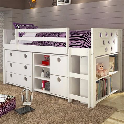twin loft bed with storage circles twin loft bed with storage white fun rooms for kids