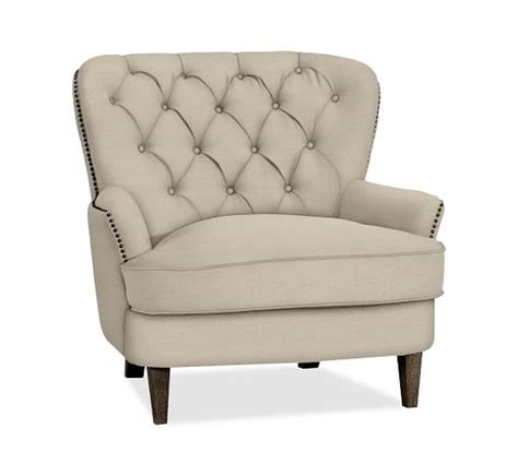 cardiff tufted armchair cardiff tufted armchair pottery barn
