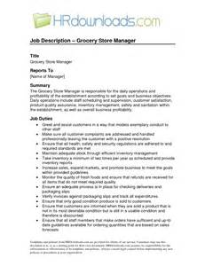 Grocery Store Manager Description by Grocery Store Front End Manager Description