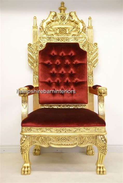 Royal Chair by A Tudor Royal Throne Chair Gold And Velvet Hshire