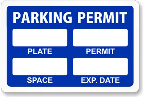 parking permit templates reserve a spot parking permits free shipping