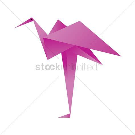flamingo origami free flamingo origami vector image 1472055 stockunlimited