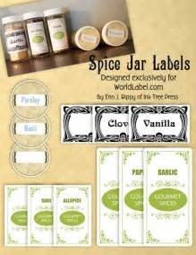 Blue Kitchen Canister Sets spice jar labels