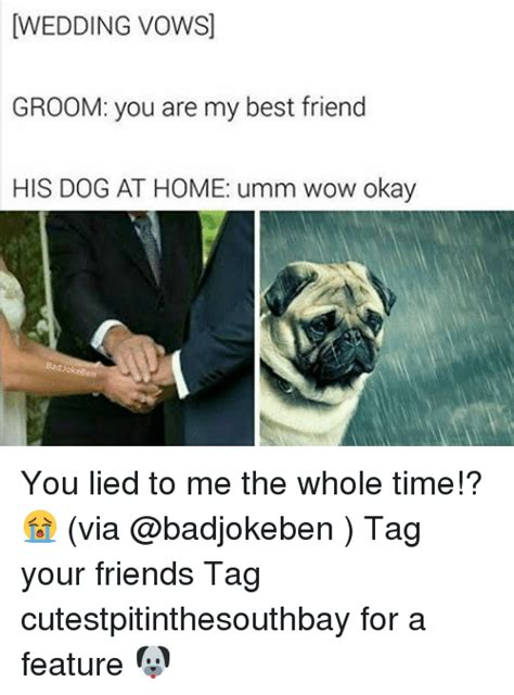wedding vowsj groom you are my best friend his at home