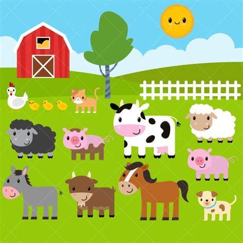 clip animals farm animals clipart farm clip barnyard animals