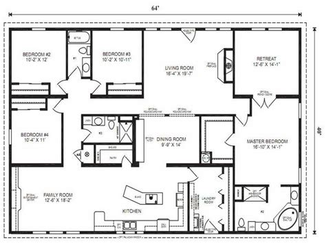ideas modular home floor plans with master bedroom