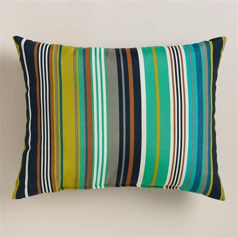 world market pillows sale cote stripe outdoor lumbar pillow world market