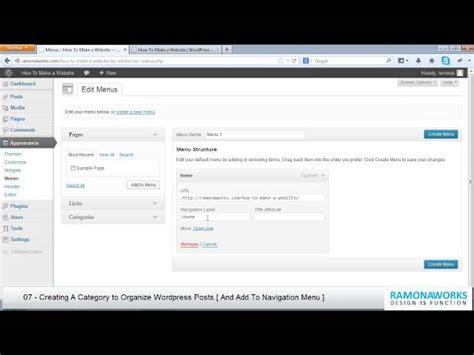 tutorial wordpress categories wordpress tutorial 07 creating a category to organize