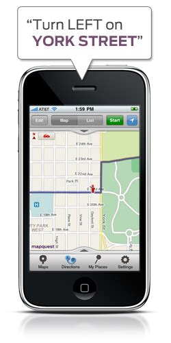 mobile mapquest mapquest 4 mobile iphone adds spoken names and
