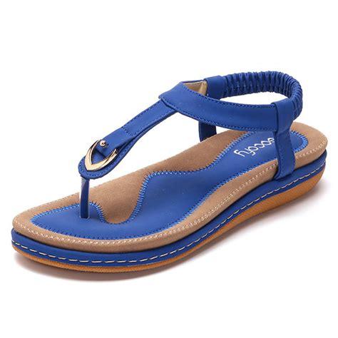 comfortable beach sandals high quality comfortable elastic clip toe flat beach