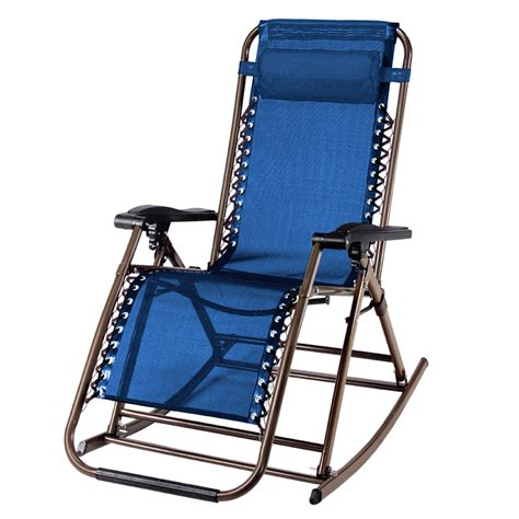 Rocking Recliner Garden Chair Partysaving Infinity Zero Gravity Rocking Chair Outdoor Lounge Patio Folding Reclining Chair