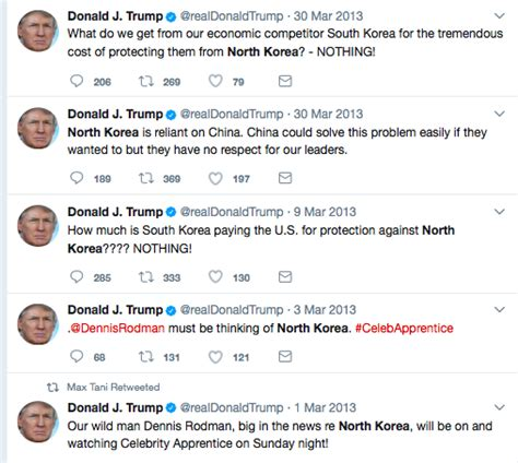 donald trump north korea tweet all the times president trump has insulted north korea
