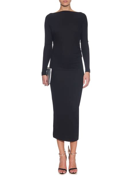 boat neck midi dress lyst vivienne westwood anglomania boat neck jersey midi