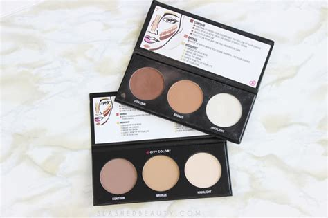 City Color Concealer And Contour Palette 100 Original review city color contour effects 2 palette slashed