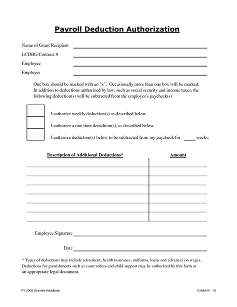 best photos of payroll deduction form template payroll