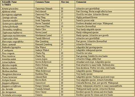 list of tropical plants cassowary food plants list tropical rainforest