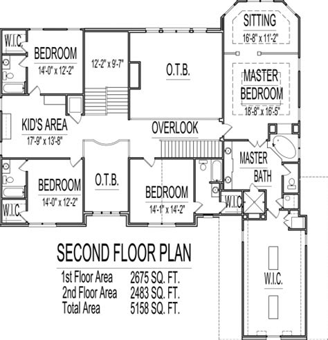 Stylish 5000 Sq Ft House Floor Plans 5 Bedroom 2 Story One Story House Plans 5000 Square